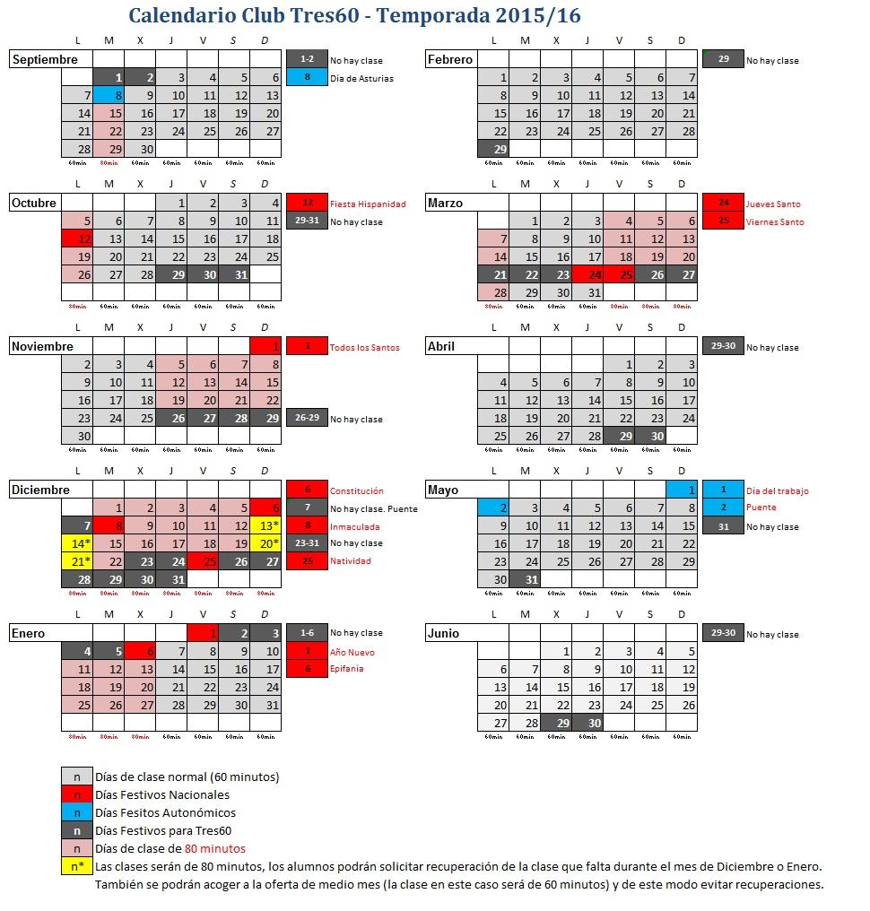Calendario Corregido 2015-2016 Tres60