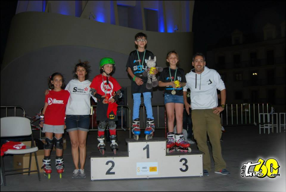Podio Battle Sub14 - Spanish Slalom Series patinaje